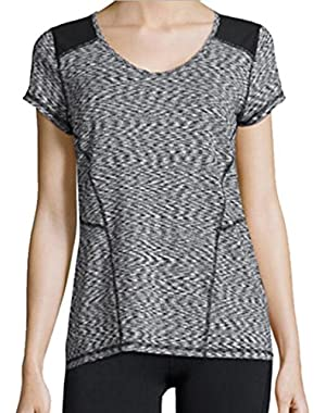Calvin Klein Performance Space-Dyed Top With Scoop Neck Medium
