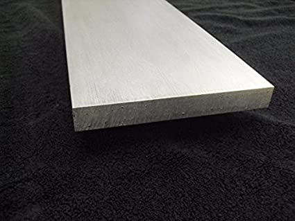 "1/"" x 2/'/' Aluminum 6061 Flat Bar 12/"" length"
