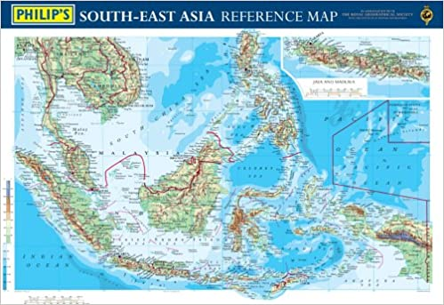 aPhilip\'s Reference Map: South-east Asia: Physical (Philip\'s ...