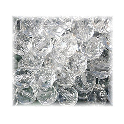 Clear Round Glass Beads (CZECH PRECIOSA GLASS BEADS FACETED ROUND FIREPOLISHED 12mm CRYSTAL CLEAR 20pcs)