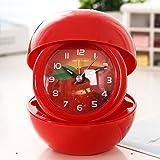 XH@G Alarm clock/cartoon can be folded small alarm clock/creative alarm clocks , red