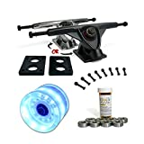 LONGBOARD Skateboard TRUCKS COMBO set w/ LED light up WHEELS + trucks Package by Yocaher
