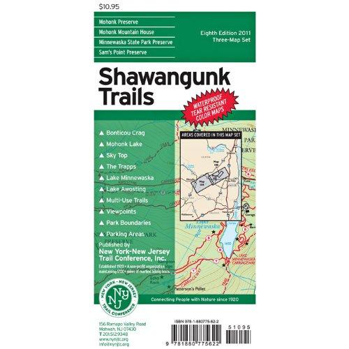 Shawangunk Trails Map: Minnewaska State Park Preserve, Mohonk Preserve, Mohonk Mountain House