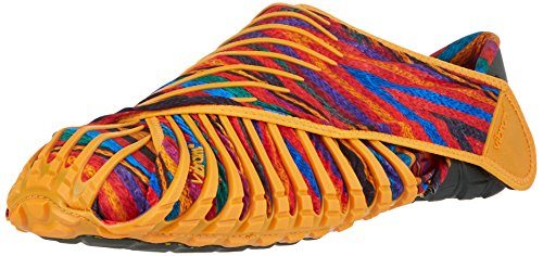Vibram Men's and Women's Furoshiki Rebozo Sneaker, Orange/Multi, EU:44-45/UK Man:9.5-10.5.UK Woman:11-12/cm:28-29/US Man:10.5-11.5/US Woman:12-13