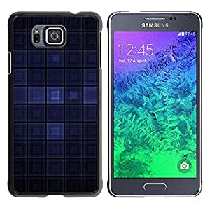 Stuss Case / Funda Carcasa protectora - Blue Dark Modern Wallpaper Checkered Square - Samsung GALAXY ALPHA G850