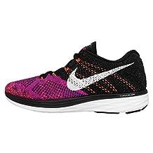 Nike Women's Flyknit Lunar 3, Black/White/Fuchsia Flash/Hot Lava 7