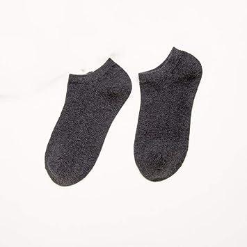 GUANGBO Calcetines Hombres Ocio Calcetines De Barco Otoño Algodón Color Sólido Transpirable Sudor Calcetines De Algodón