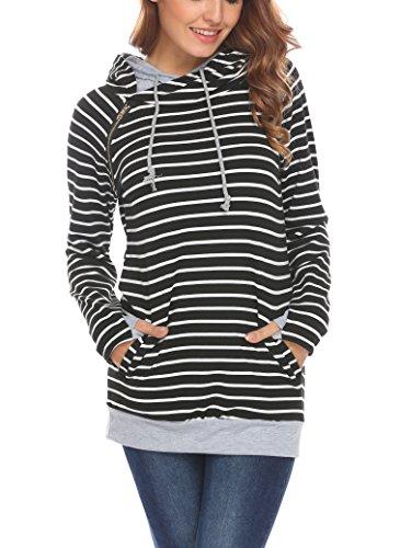 Zipper Hoodie Sweatshirt - 3