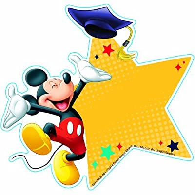 Eureka Mickey Graduation Paper Cut Outs: Toys & Games