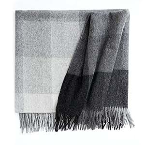 Elvang Inca Stones - Manta de lana de alpaca, color gris