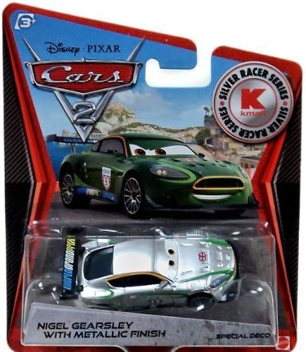 Disney Pixar Cars 2/Exclusive 1 55/Die Cast Car Silver Racer Nigel gearsley with met/álico Acabado