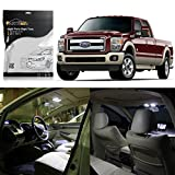 package lights - Partsam 2005-2012 Ford F-250 F-350 F-450 White Interior LED Light Package Kit (8 Pieces)