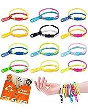 UpBrands Fidget Toys Zipper Bracelets 7.5 Inches, Easter Basket Stuffers, Sensory Toys Bulk Set, Neon Colors, Kit for Birthday, Party Favors for Kids, Easter Egg Fillers