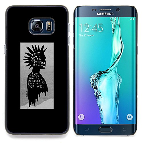 // PHONE CASE GIFT // Fashion Hard Case Stylish PC Cover Protective Case for Samsung Galaxy S6 Edge Plus / S6 Edge+ G928 / punk kid black poster guy grey man /