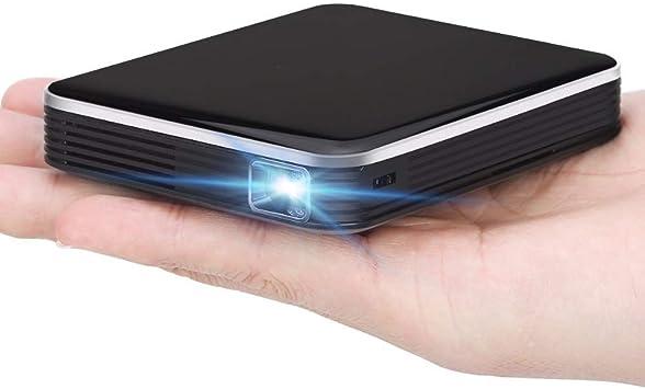 HAJZF Mini Micro Proyector LCD Inteligente, Batería Incorporada ...