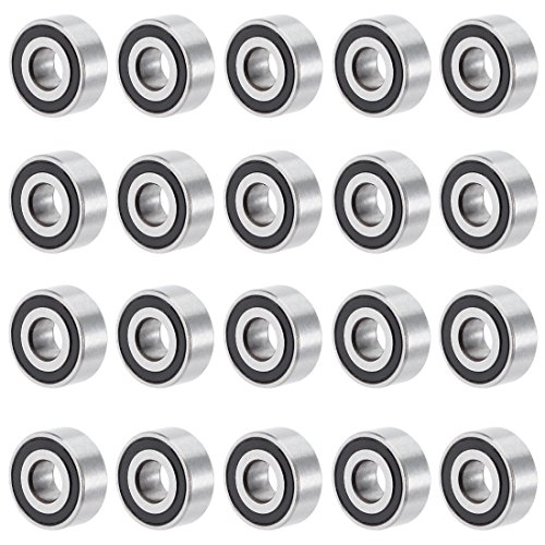 uxcell 20pcs MR104-2RS 4mmx10mmx4mm Double Sealed Miniature Deep Groove Ball Bearing by uxcell
