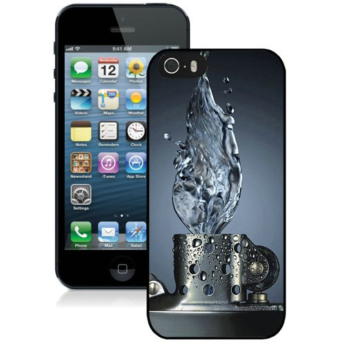 Coque,Fashion Coque iphone 5S 3D Water Lighter Noir Screen Cover Case Cover Fashion and Hot Sale Design