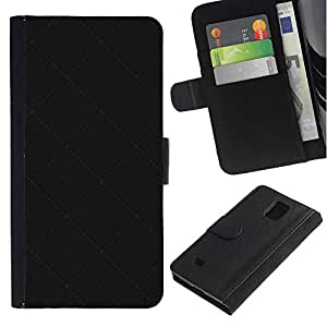 Ihec-Tech / Flip PU Cuero Cover Case para Samsung Galaxy Note 4 SM-N910 - Black Texture