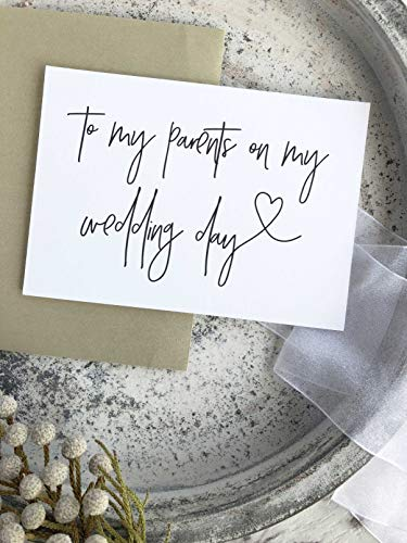 To My Parents on My Wedding Day Card Gift for Parents of the Bride