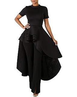 ac5f2e563eac High Low Tops for Women - Unique Ruffle Short Sleeve Bodycon Peplum Shirt  Dresses