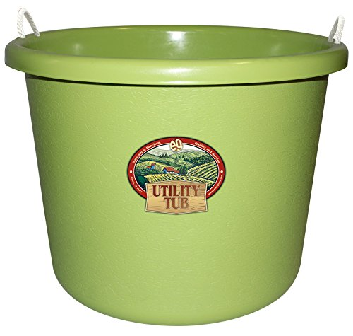 Emsco Group 2653 Utility Tub-17.5 Gallon Bucket-for Maintenance Cleaning Growing, Sage Green Utility Bucket