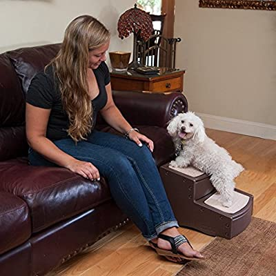 Pet Gear Easy Step I Pet Stairs, 2-Step for Cats and Dogs up to 75-Pounds, Light Cocoa