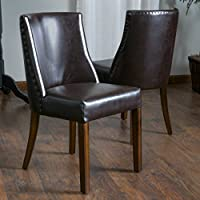 Christopher Knight Home 295514 Harman Dining Chair (Set of 2), Brown