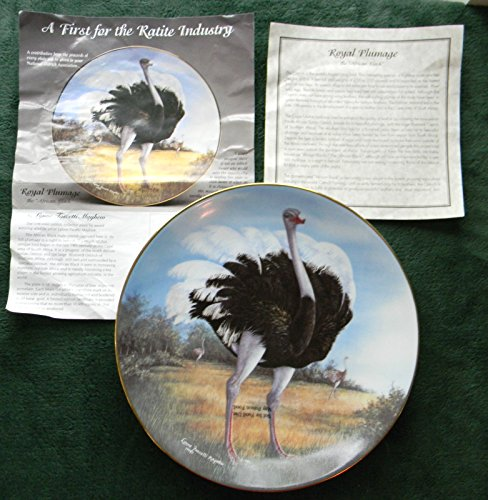 Lynne Facetti Mayhew Royal Plumage Ostrich Collector's Plate - Limited Edition