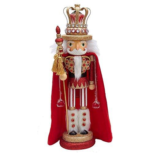Christmas Nutcracker Hollywood Red King w Cape HA0240-A Kurt Adler