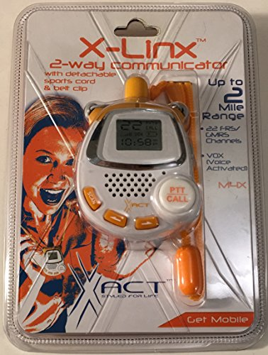 2003 XACT Communication, LLC XACT X-Linx 2-Way Communicator with Detachable Sports Cord & Belt Clip (XACT X-LINX Model M4X)