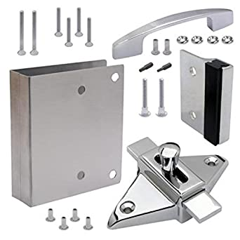 Tph Supply Bathroom Partition Door Fix It Kit Converts Concealed Latch To Slide Latch Operation 111551 Amazon Com Industrial Scientific