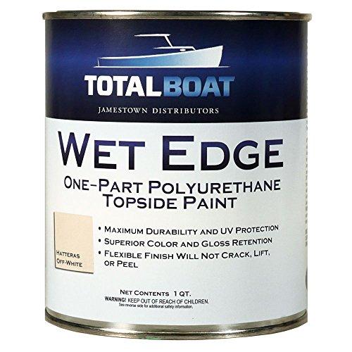 TotalBoat Wet Edge Topside Paint (Hatteras Off-White, Quart) ()