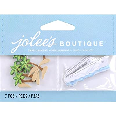 Jolee's Boutique Scrapbooking Embellishment, Palm Trees and Cruise Ship