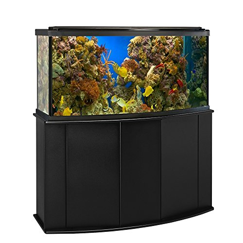 Aquatic Fundamentals 72 Gallon Bowfront Aquarium Stand, Black