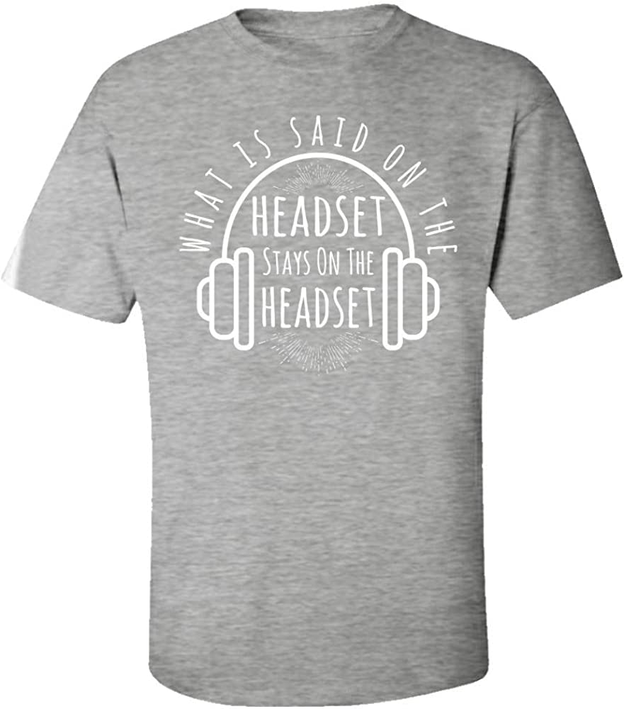 Kids T-Shirt What is Said on Headset Stay on it