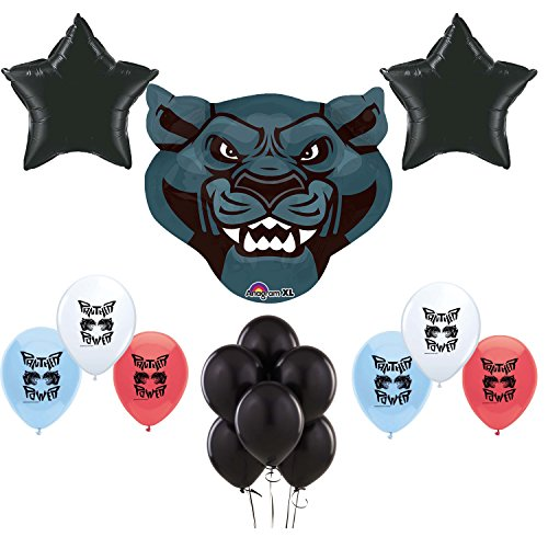 Black Panther Party Supplies Birthday Party Balloons Decoration Bundle