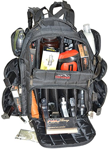 EXPLORER Backpack + Range Bag with Large Padded Deluxe Tactical Divider and 9 Clip Mag Holder - Rangemaster Gear Bag (black),20
