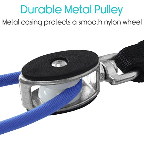 Shoulder Pulley by Vive - Over Door Rehab Exerciser for Rotator Cuff - Home Cable Arm Rehabilitation Exercise System for Frozen Shoulder, Physical Therapy, Flexibility, Range of Motion and Stretching by VIVE (Image #4)