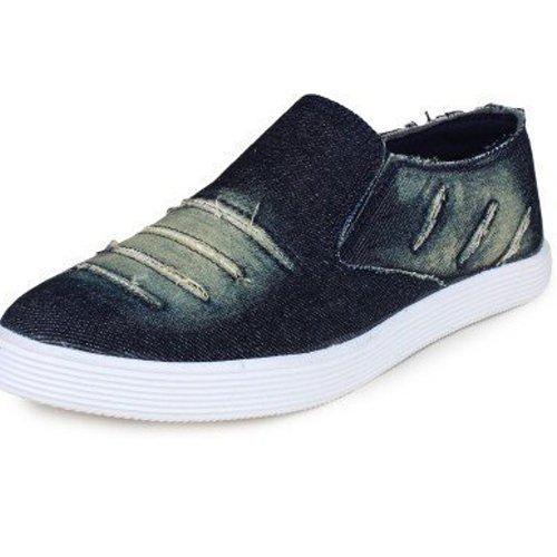 Denim Jeans Blue Loafers Shoes