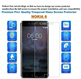 Dashmesh Shopping Nokia 6 Premium Tempered Glass Screen Protector Guard With FREE Installation Kit