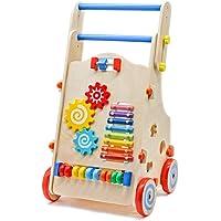 Teeker Adjustable Wooden Baby Walker With Multiple Activity Toys
