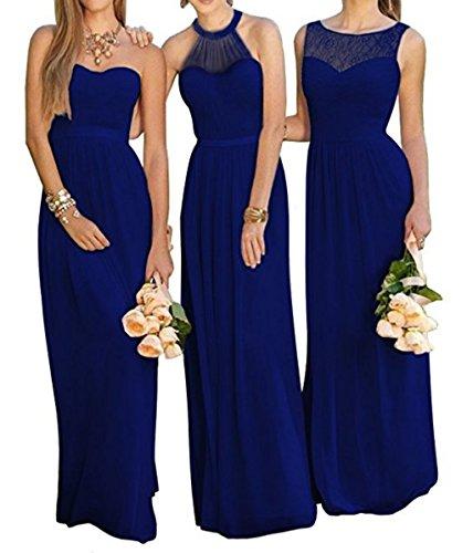 Chiffon Long Fanciest Royal c Navy Brdiesmaid Wedding Women's Party Blue Dresses Dress Blue 5TTxUwgWq