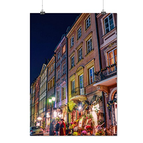 Buy cheap old town night life city beauty matte glossy poster 12x17 inches wellcoda