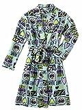 Joe Boxer Girls Blue Sweet Dreams Bathrobe I Love Naps Bath Robe Emoji House Coat M