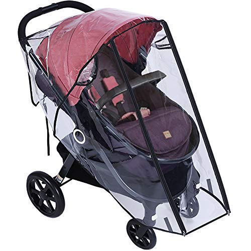 (Universal baby stroller rain cover, transparent polyethylene baby stroller Waterproof and windproof cover dustproof and smog Baby stroller cover,travel umbrella baby stroller dust shield)