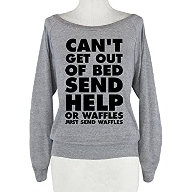 HUMAN Can't Get Out Of Bed, Send Help (Or Athletic Grey Small Raglan