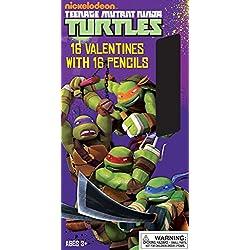 Paper Magic 16CT Pencils Teenage Mutant Ninja Turtles Kids Classroom Valentine Exchange Cards