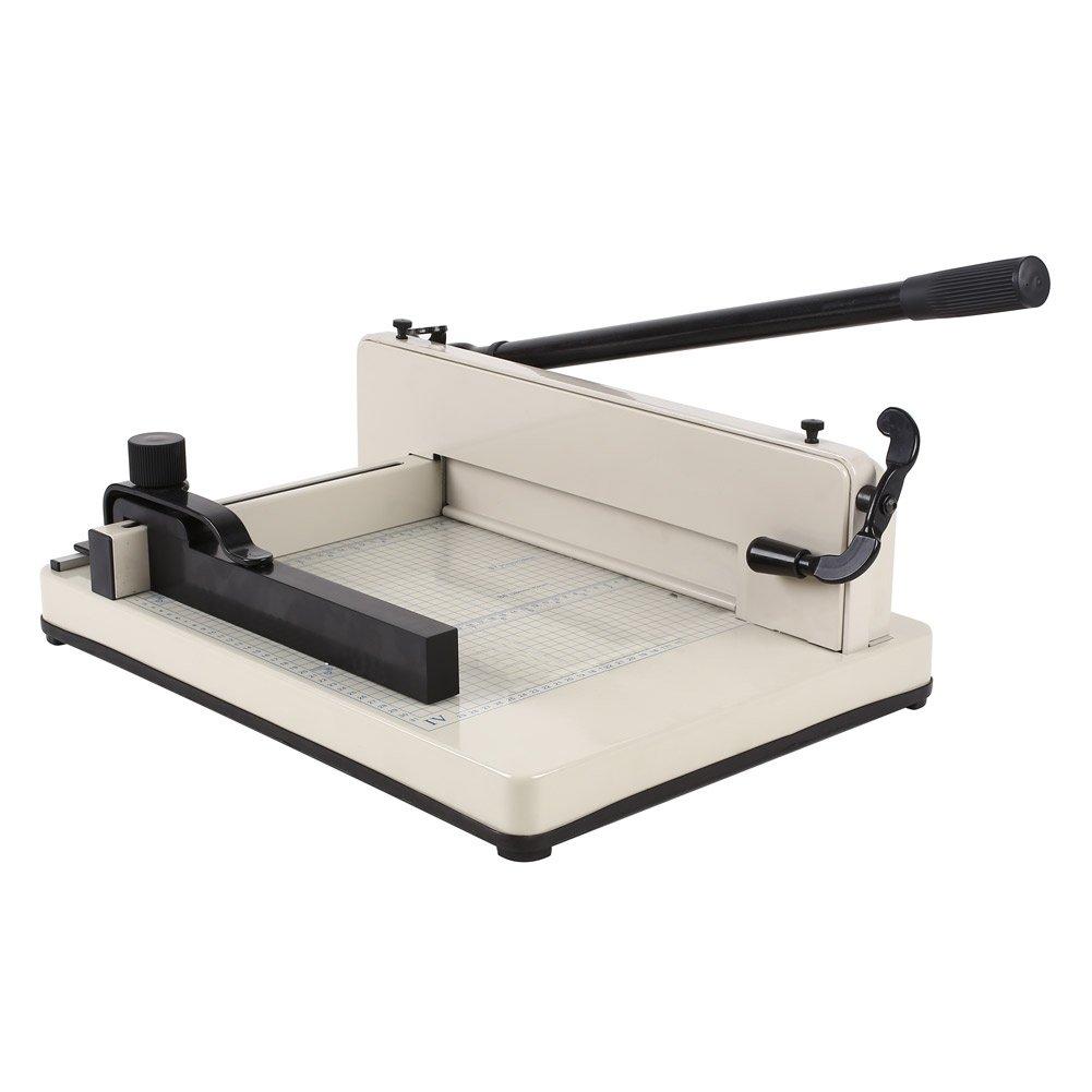 Amzdeal Taglierina pesanti professionale A4 capacità massima tagliare 400 ogni volta Lo spessore è di 12 Taglia-carta Taglierina A4