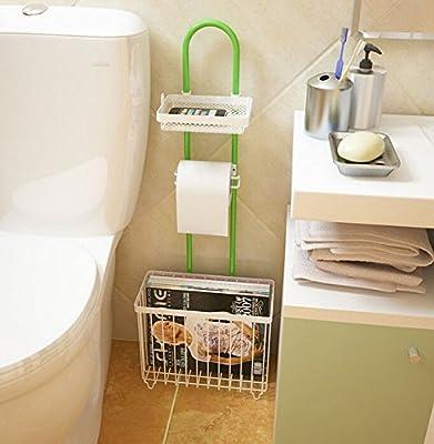 New Home Bathroom Portable Toilet Read Magazine Stand Rack Tissue Paper Holder