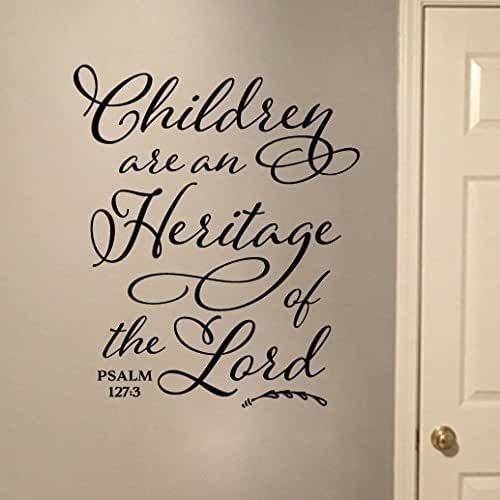 The Lord S Love Wall Decal: Amazon.com: Children Are An Heritage Of The Lord Vinyl